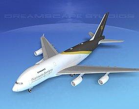3D model Airbus A380-800 UPS