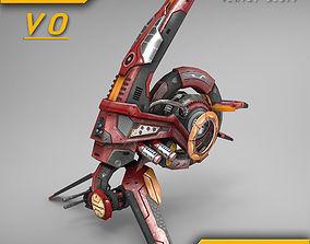 Drone V0 Red Manga - ANIMATED 3D model