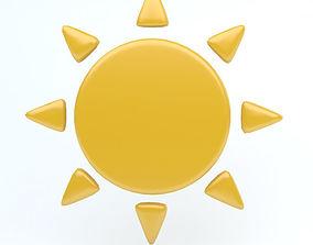 3D asset SUN icon