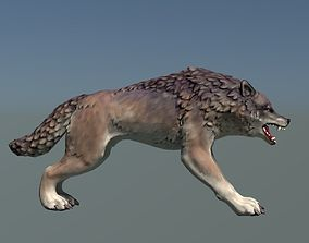 3D asset Wolf II Low Poly