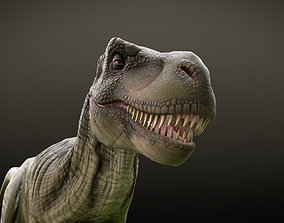 T Rex Dinosaur Rig and Animations 3D model