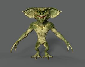 Animated Amphibian Gremlin for games -low poly 3D asset
