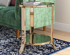 Marion Glass End Table 3D
