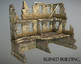 Ruined Building 1 3D model game-ready
