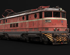 old locomotive train 3D model
