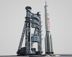 Proton Rocket launch pad 3D