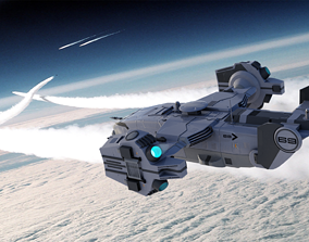 military SF Sci-fi futuristic Dropship 3D model