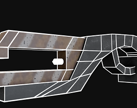 Game Ready Laser Gun 3D asset