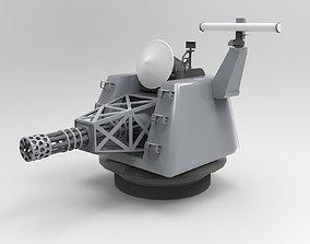 3D model Naval Machine Gun - CIWS - Close-in weapon system
