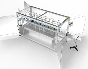 Oil Lubricants Filling Machine 3D model