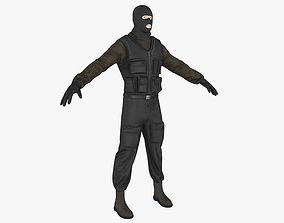 Terrorist 3D asset VR / AR ready
