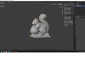 sciurine 3D printable model