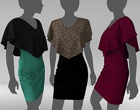 3D model Dress bi color