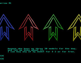 3D model Low poly arrow 41