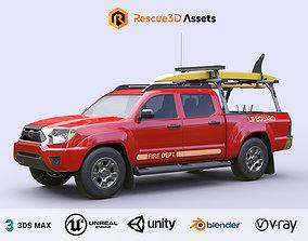 3D asset Lifeguard Vehicle