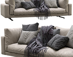 Livingdivani Leather Sofa Floyd Hi 3D model