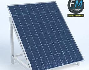 3D asset PBR Solar Panel on stand