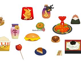 3D model Yokai watch food item pack