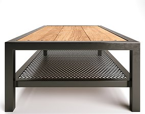 3D PBR Modern industrial rustic coffee table