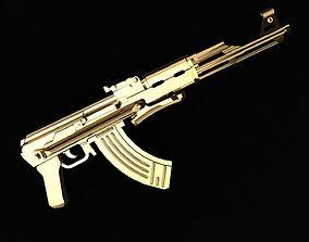 necklaces 3D print model weapon ak-47