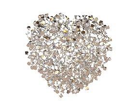 Voxel Heart Rock Style v1 012 3D asset