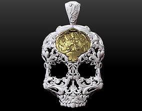Skull ornamental pendant 3D print model