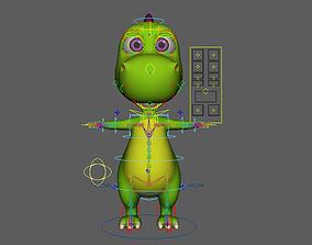 Asset - Cartoons - Animal - Dinosuar - Rig 3D