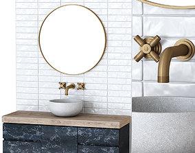 Furniture set for bathroom B2 3D model