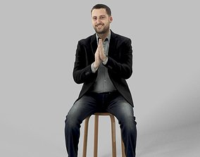 Petr Casual Smart Sitting Man Middle East 3D asset