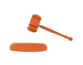 hammer judge hammer for auction 3D printable model