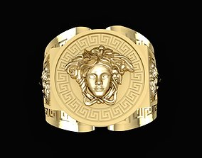 1538 Super Product Versace Gold Ring Size 3D print model 5