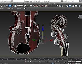 violin 3D asset VR / AR ready