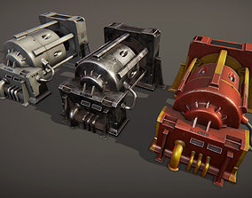 Industrial machine 1 3D model game-ready