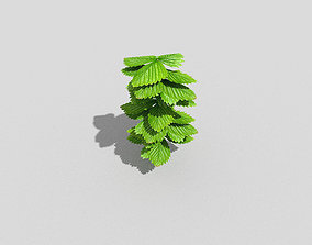 wood Low poly Plant 3D model game-ready