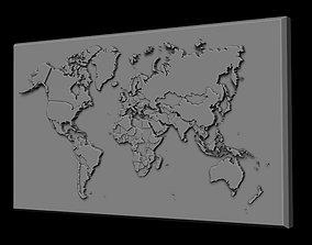 ocean 3D print model World Map