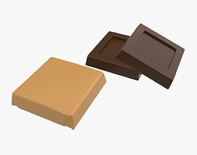 Chocolate bar small with packaging 3D model