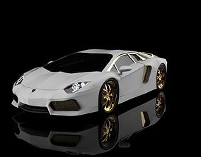 3D model Lamborghini Aventador gold