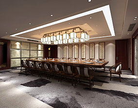 3D model Conference room office reception hall 27