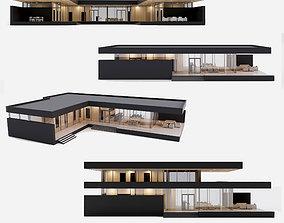 3D Villa house Collection 4 models