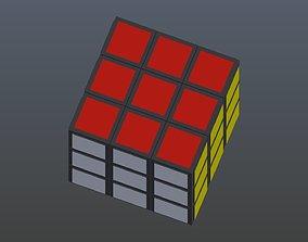 Rubiks Cube 3D model low-poly