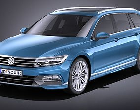 Volkswagen Passat Variant R-line 2015 VRAY 3D model