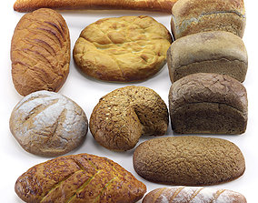 Large Bread set 3D model