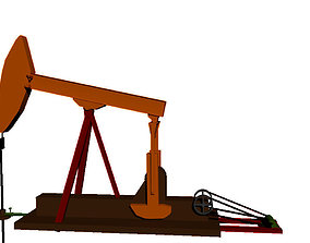 animated Pumpjack 3D Model
