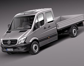 3D model Mercedes-Benz Sprinter Pickup Long 2014
