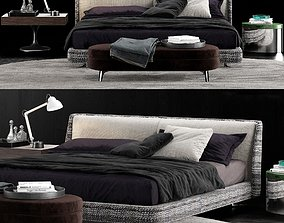 Minotti Spencer Bed 3D model