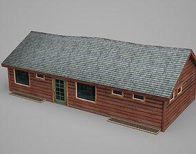 3D model Modern Architectural Redwood House