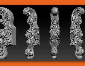 CABRIOLE CARVED Furniture Leg 3D Models set - 004