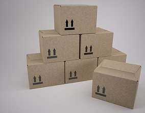 Cardboard Box 3D ship
