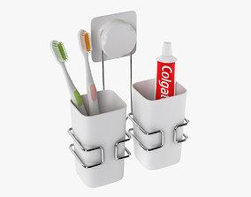 3D model Cup Hanging Bathroom Toothbrush Holder