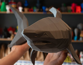 3D print model Hanging Low Poly Shark